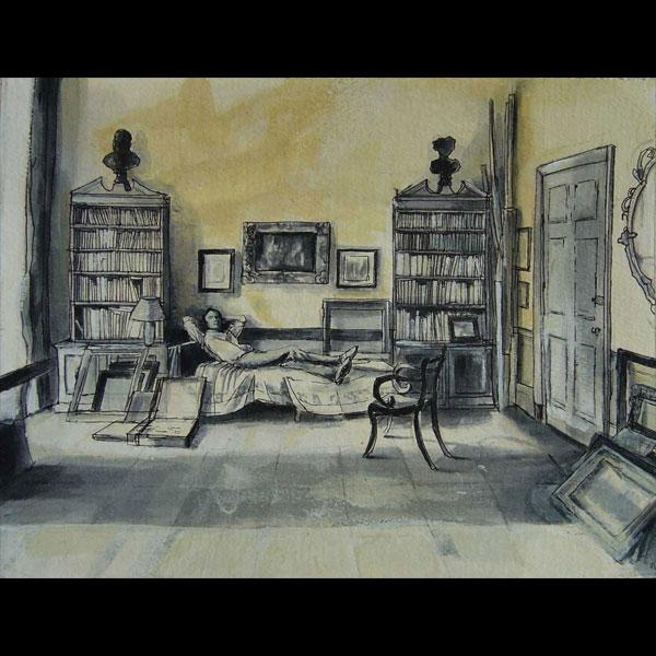 Rex Whistler in Studio