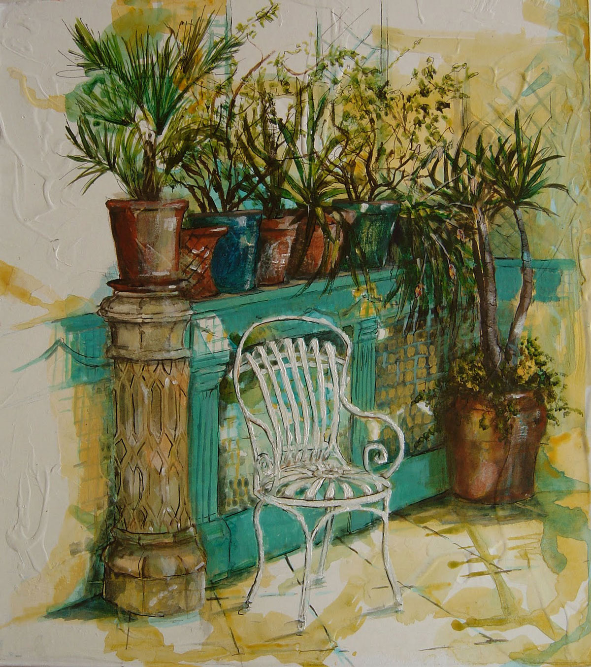 In the Orangery, Port Eliot II - 21 x 35 cm