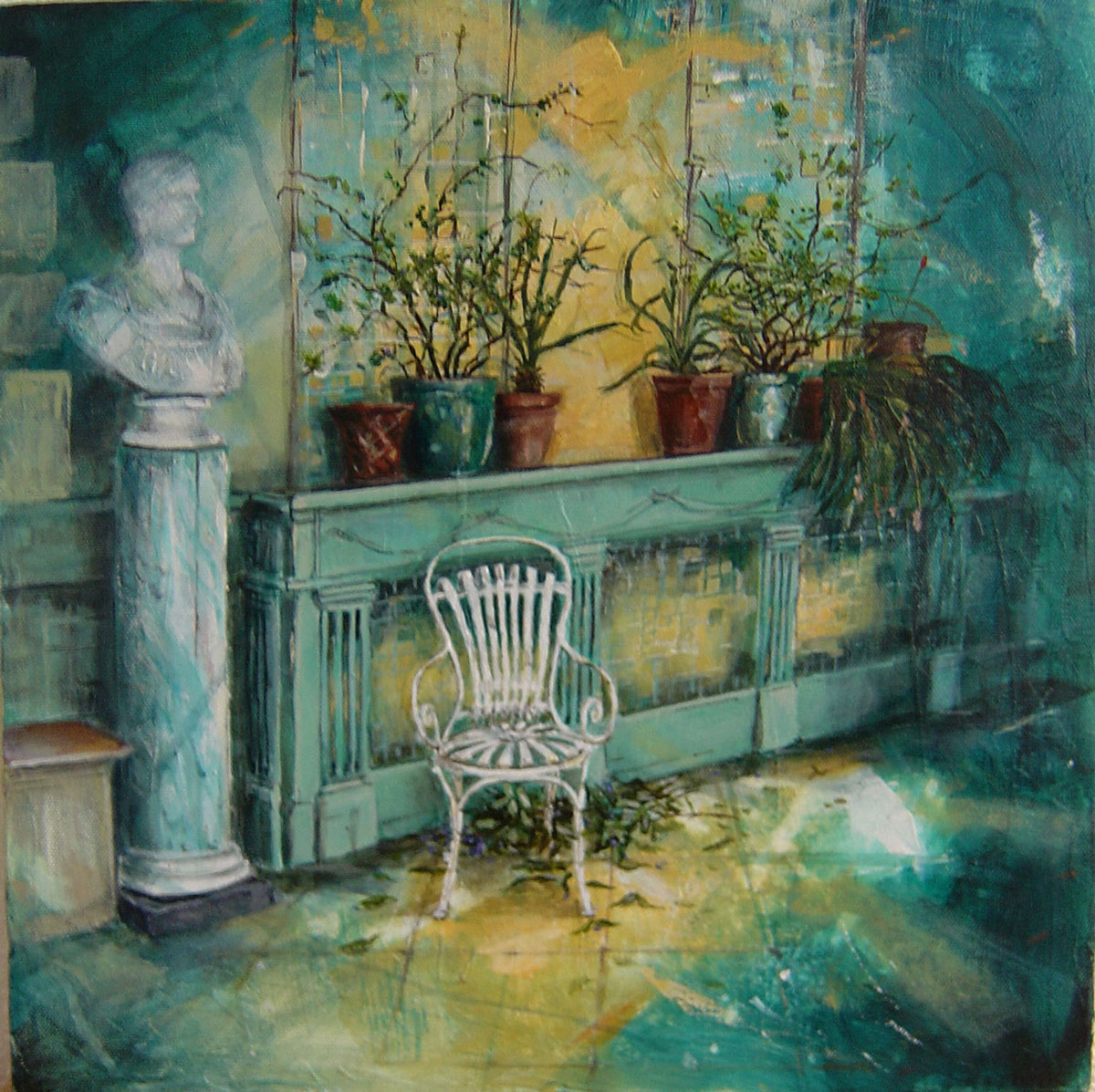 In the Orangery, Port Eliot II - 40 x 40 cm