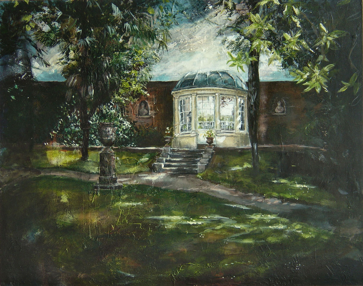 In the gardens, Port Eliot 40 x 50 cm