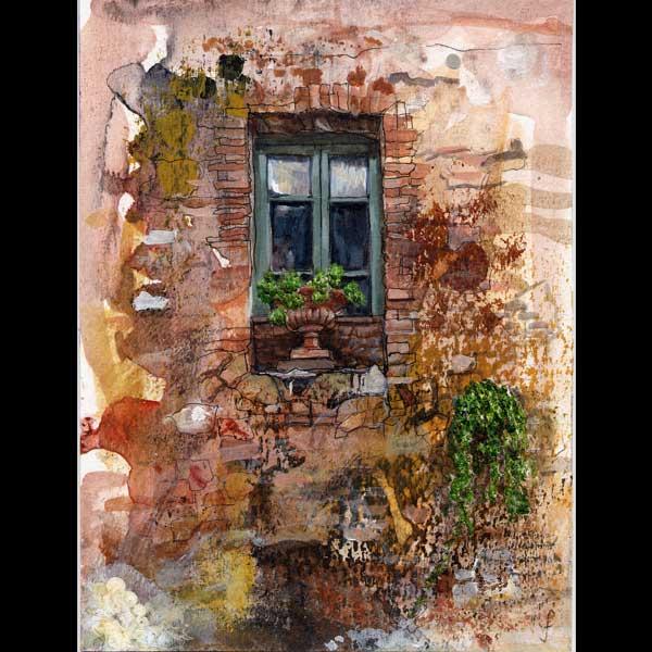 La vecchia finestra, Montisi, Tuscany