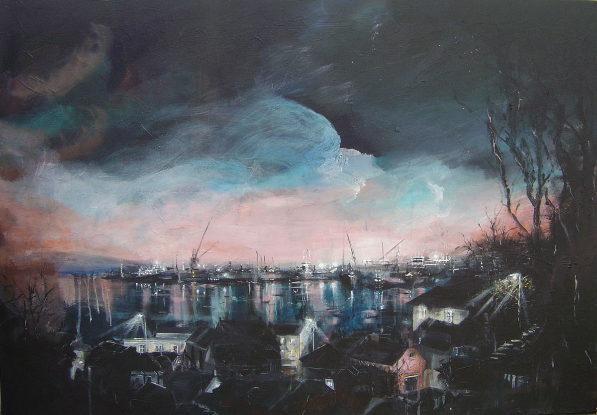 Winter light, Falmouth II 70 x 100 cm