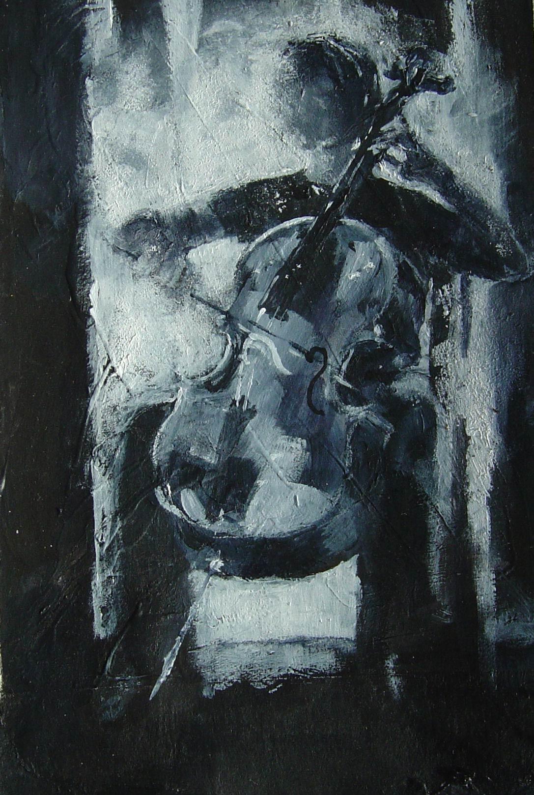 Bach Allemande 17.5 x 13.5 cm