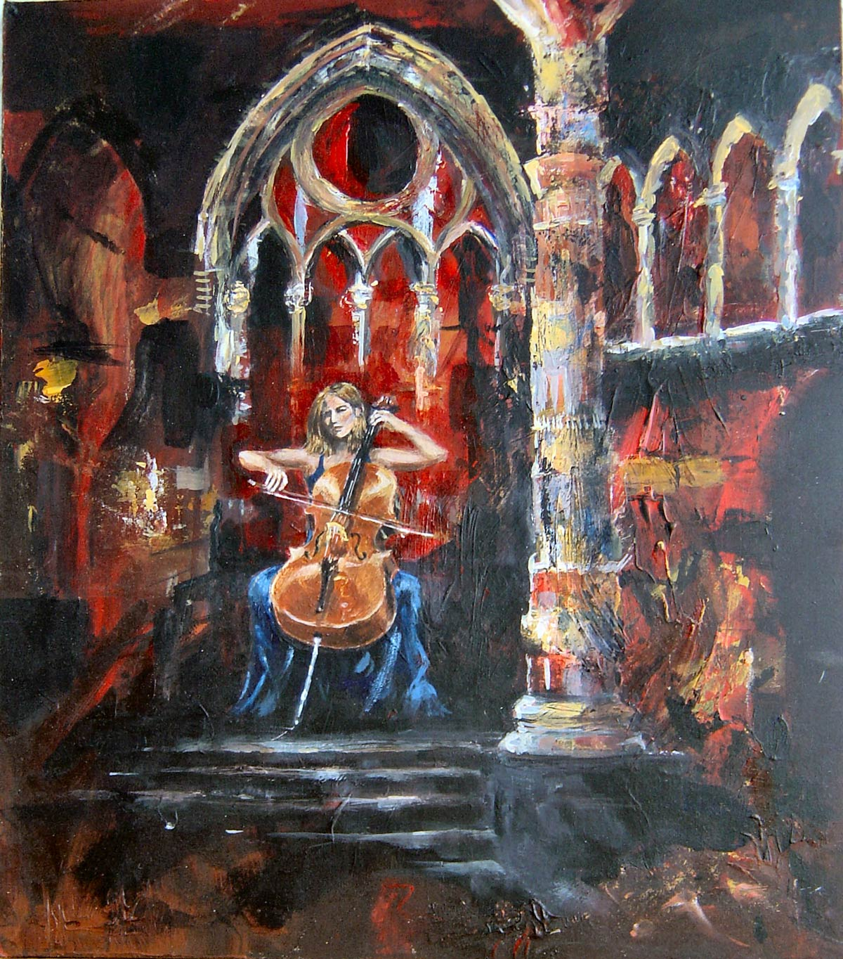 Bach in Blackfriars Chapel 40 x 36 cm
