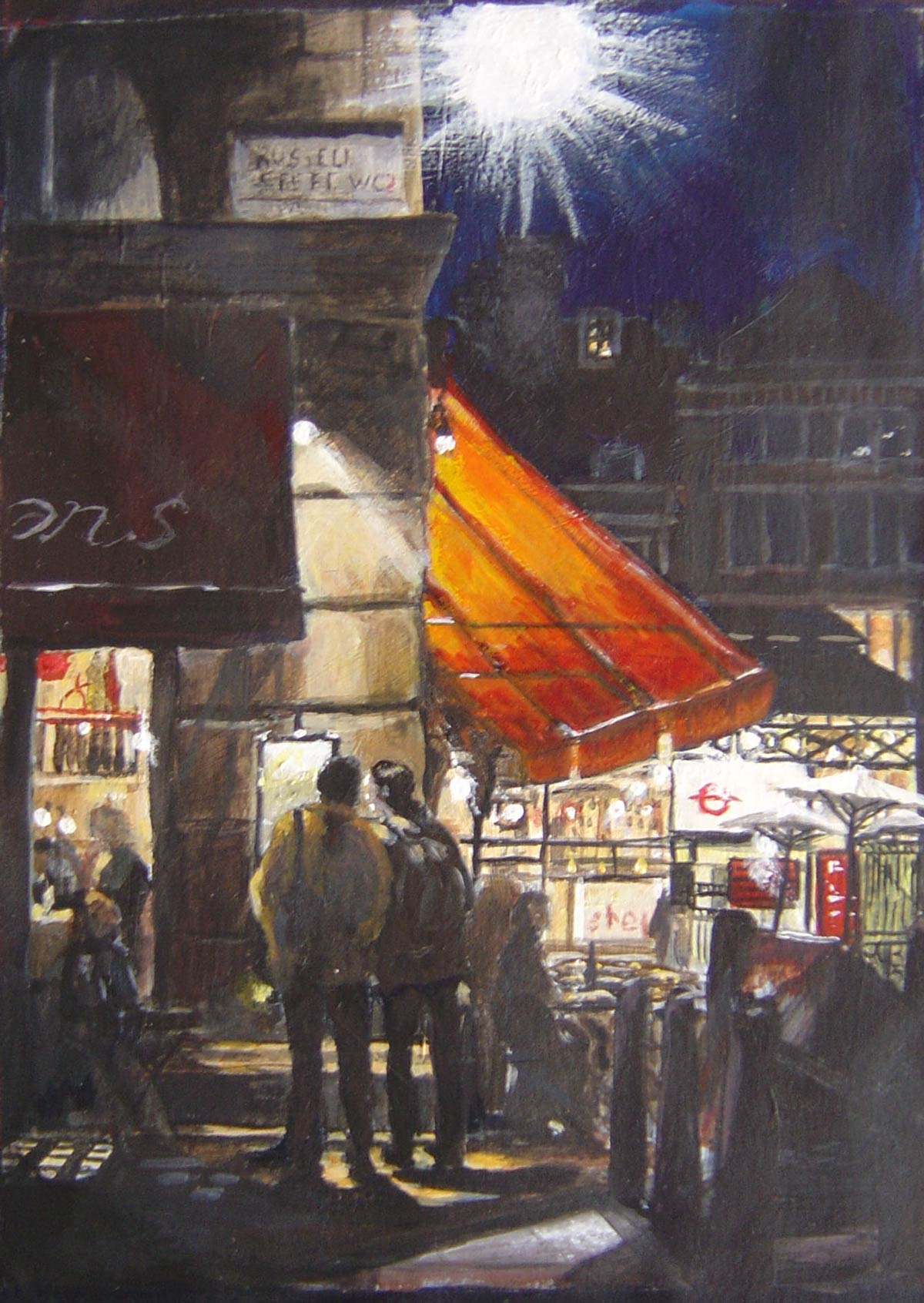 Covent Garden, Evening 18 x 13 cm