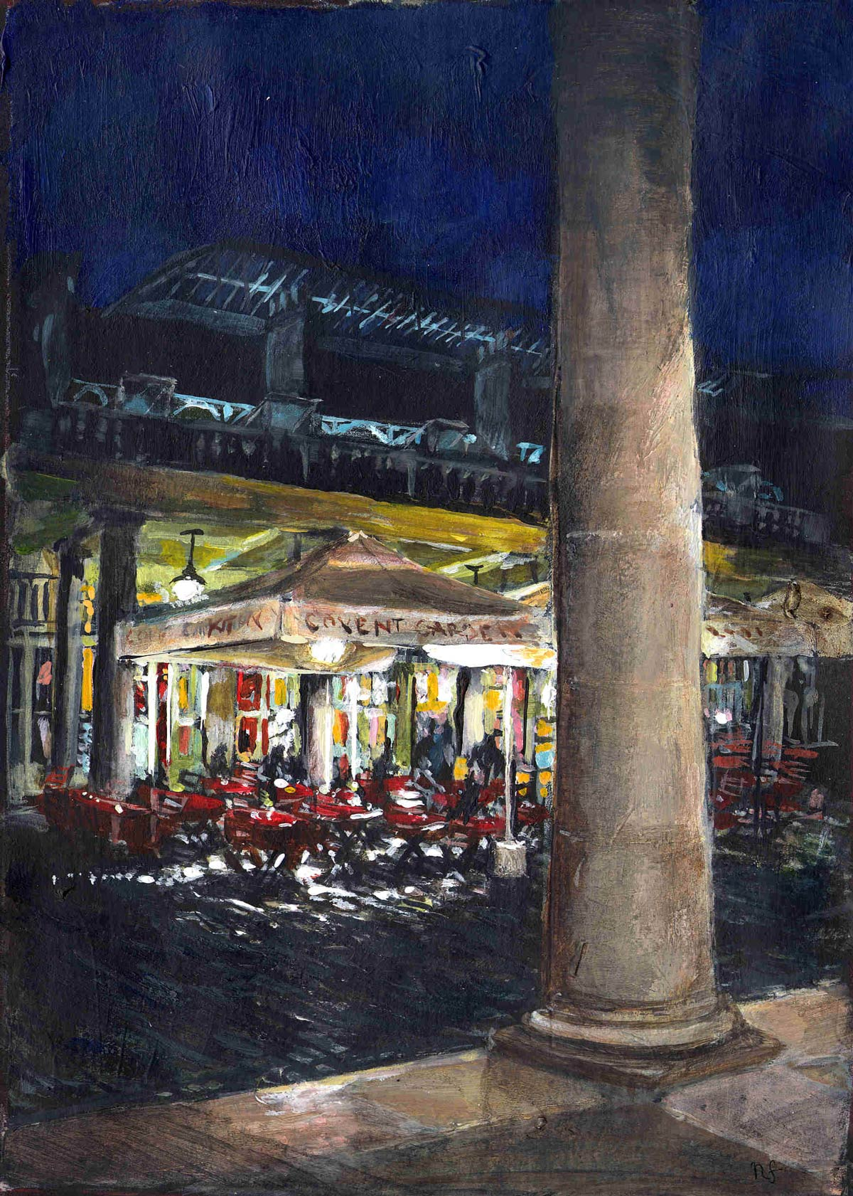 Covent Garden, evening in the Piazza 18 x 13 cm