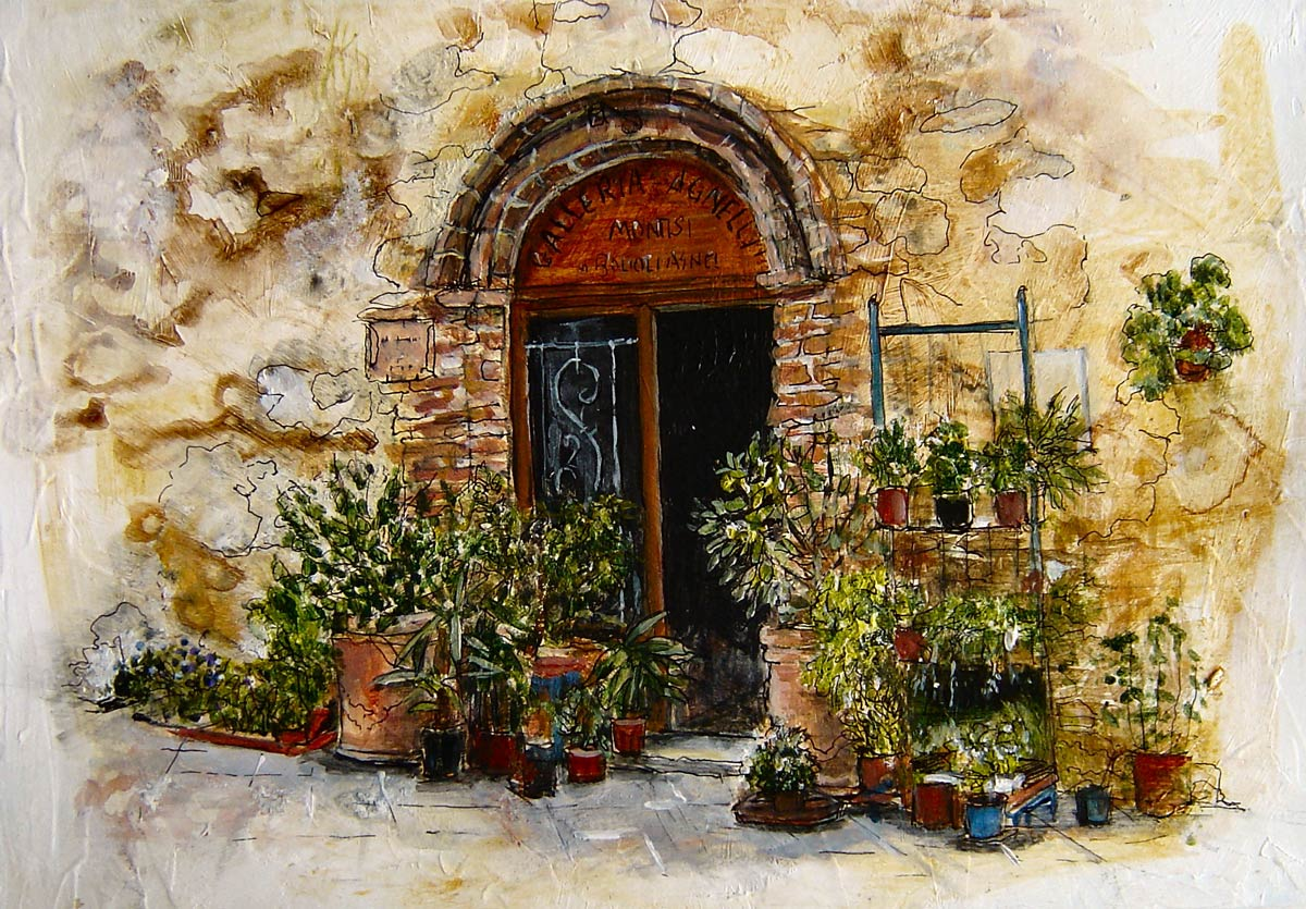 Flower Shop Montisi Tuscany 15 x 18 cm