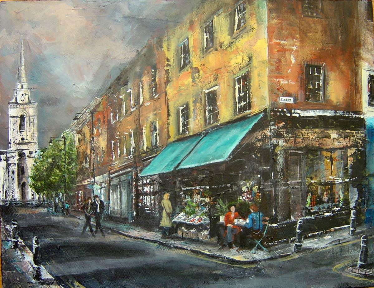 Gun Street Spitalfields 35 x 45 cm