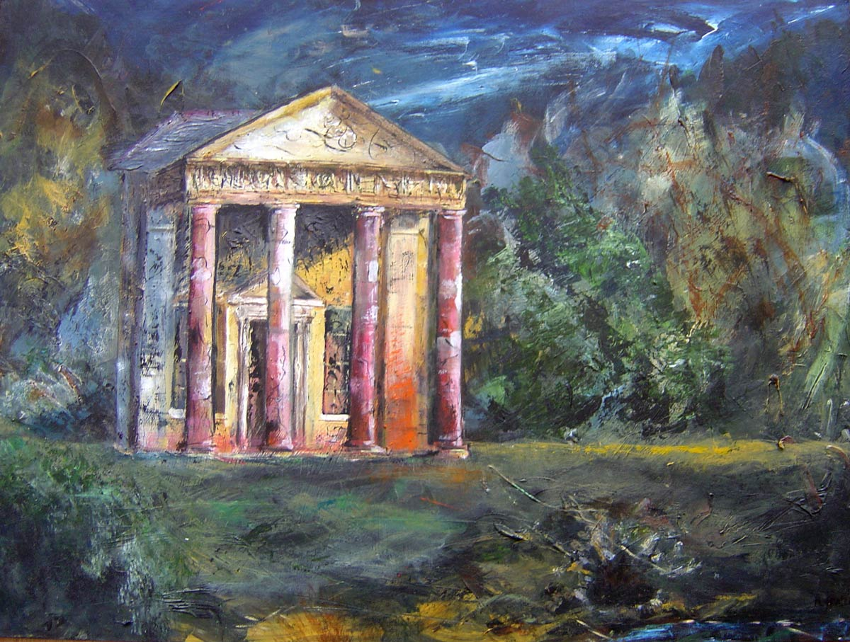 In the gardens Stourhead 44 x 59 cm