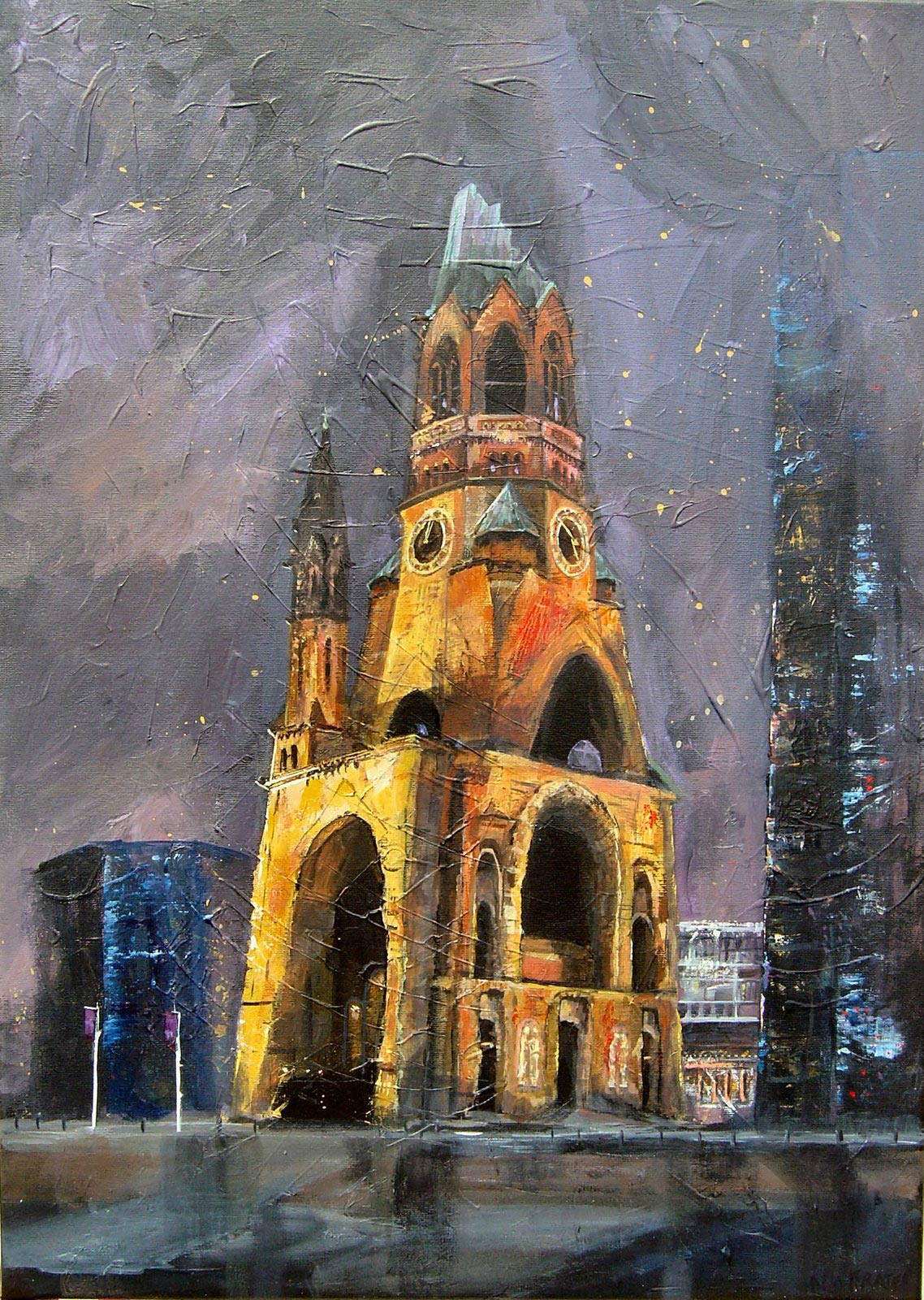 Kaiser Wilhelm Church Berlin 60 x 50 cm