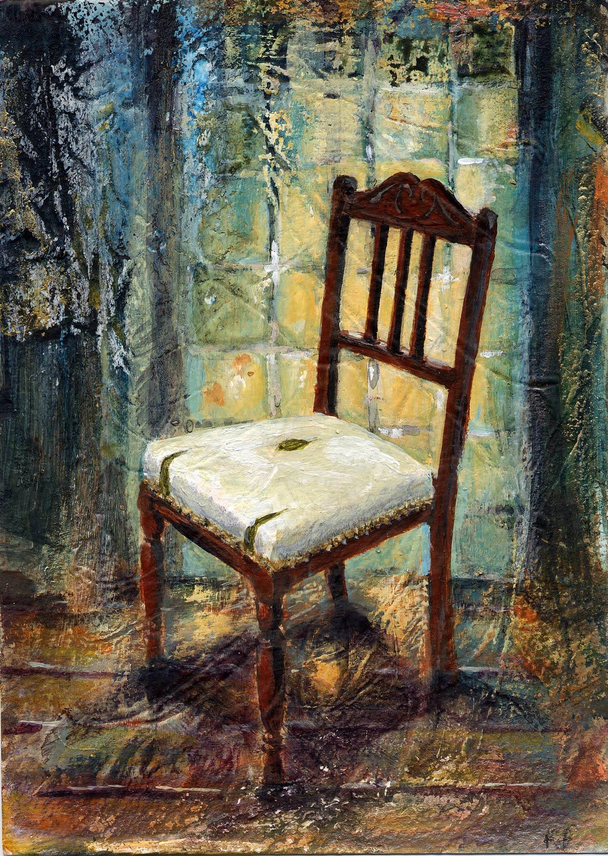 Louise's Chair IV 18 x 12.5 cm