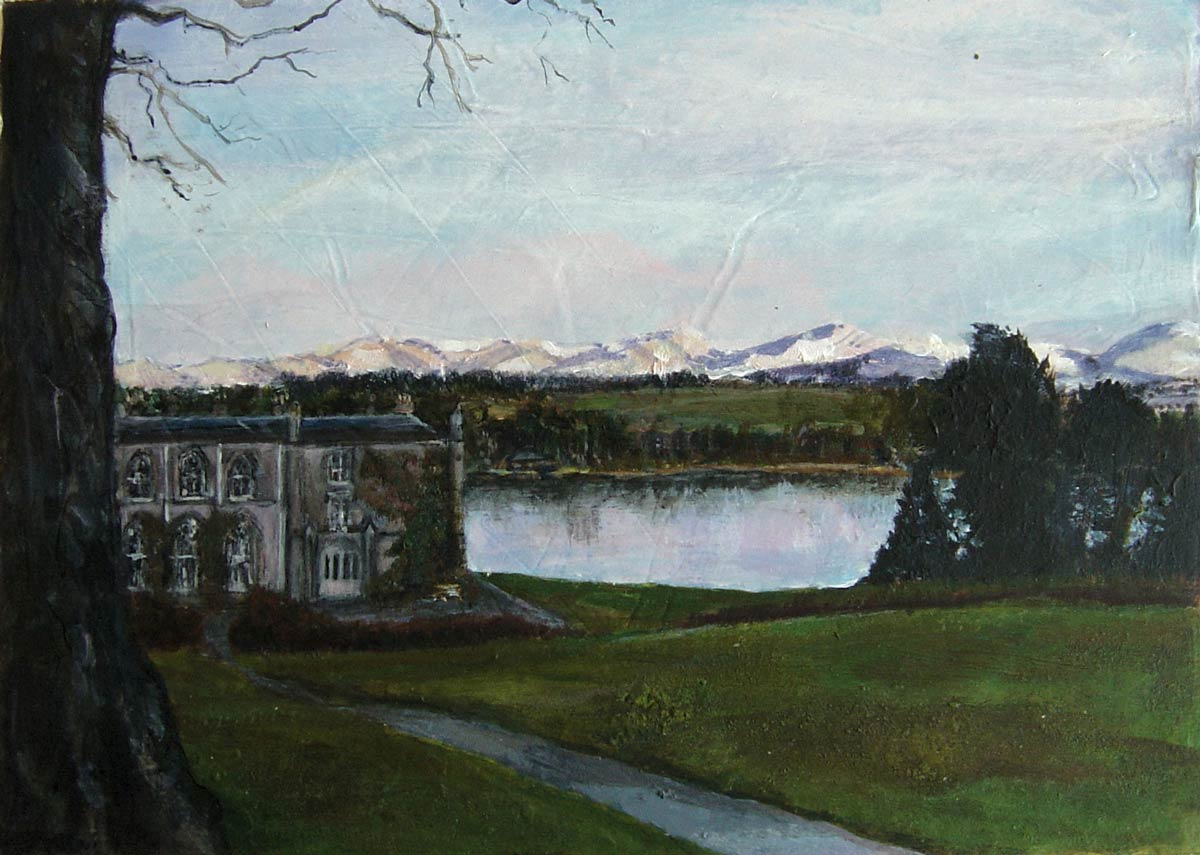 Plas Newydd winter afternoon 13 x 18 cm