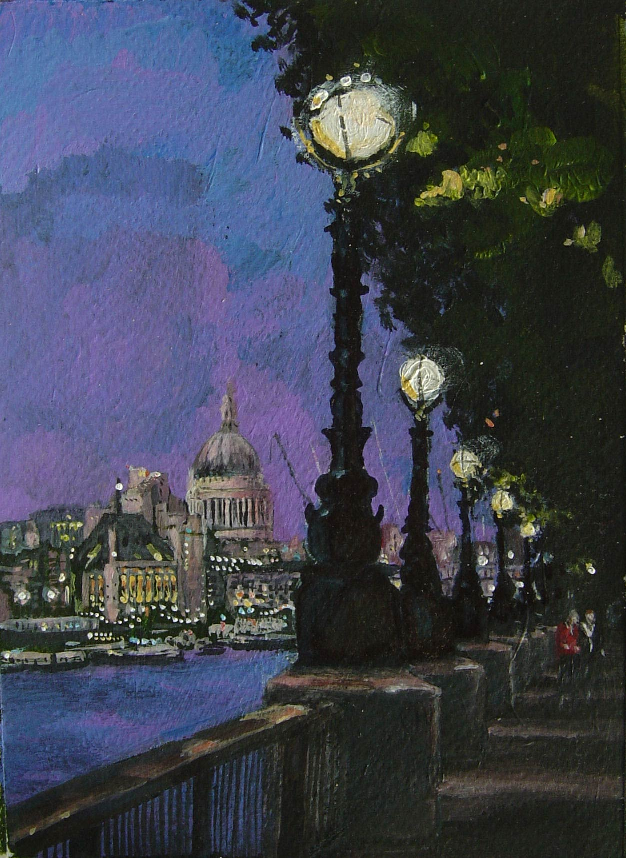 South Bank evening 18 x 13 cm