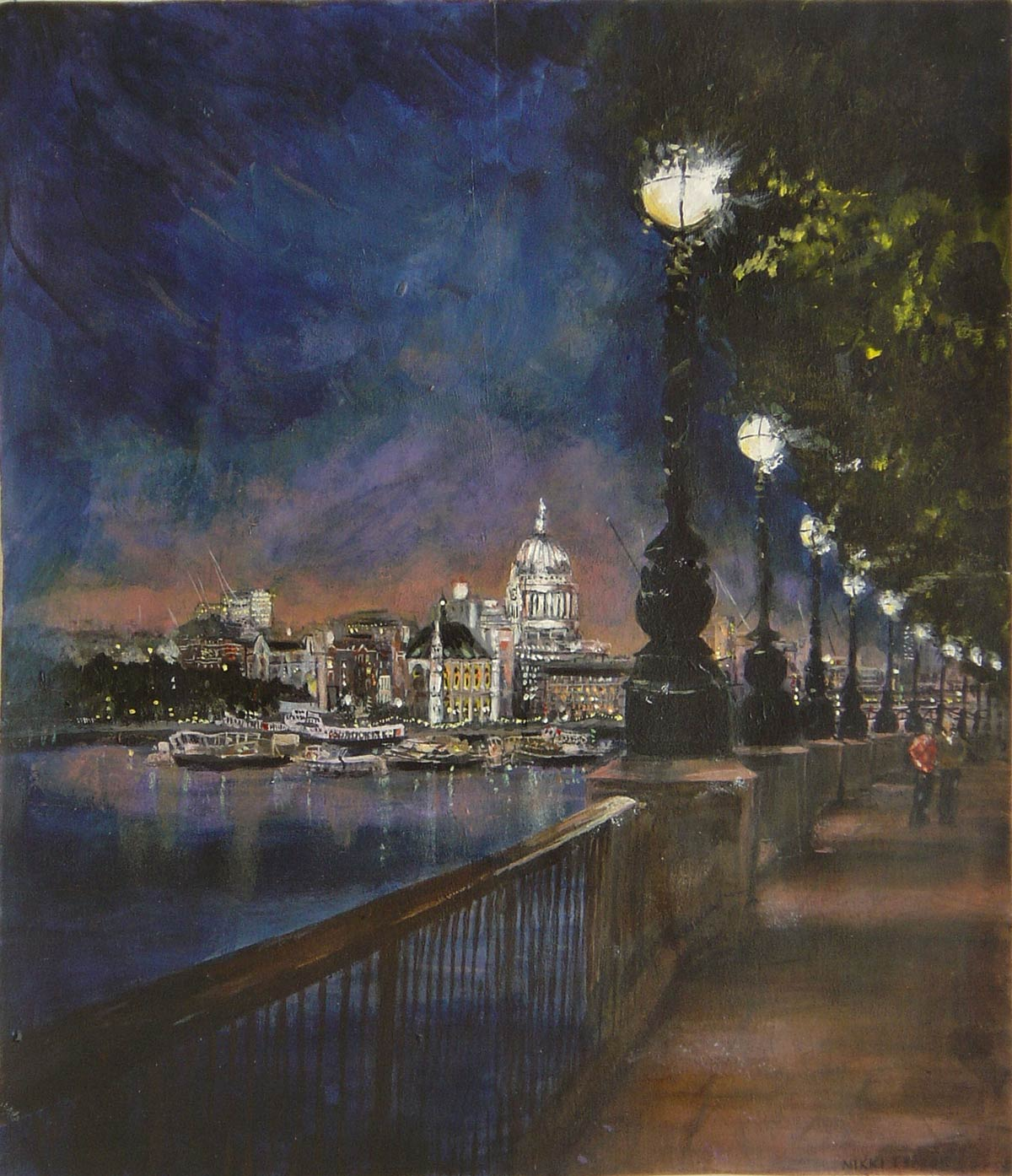 South Bank evening II 34 x 29 cm