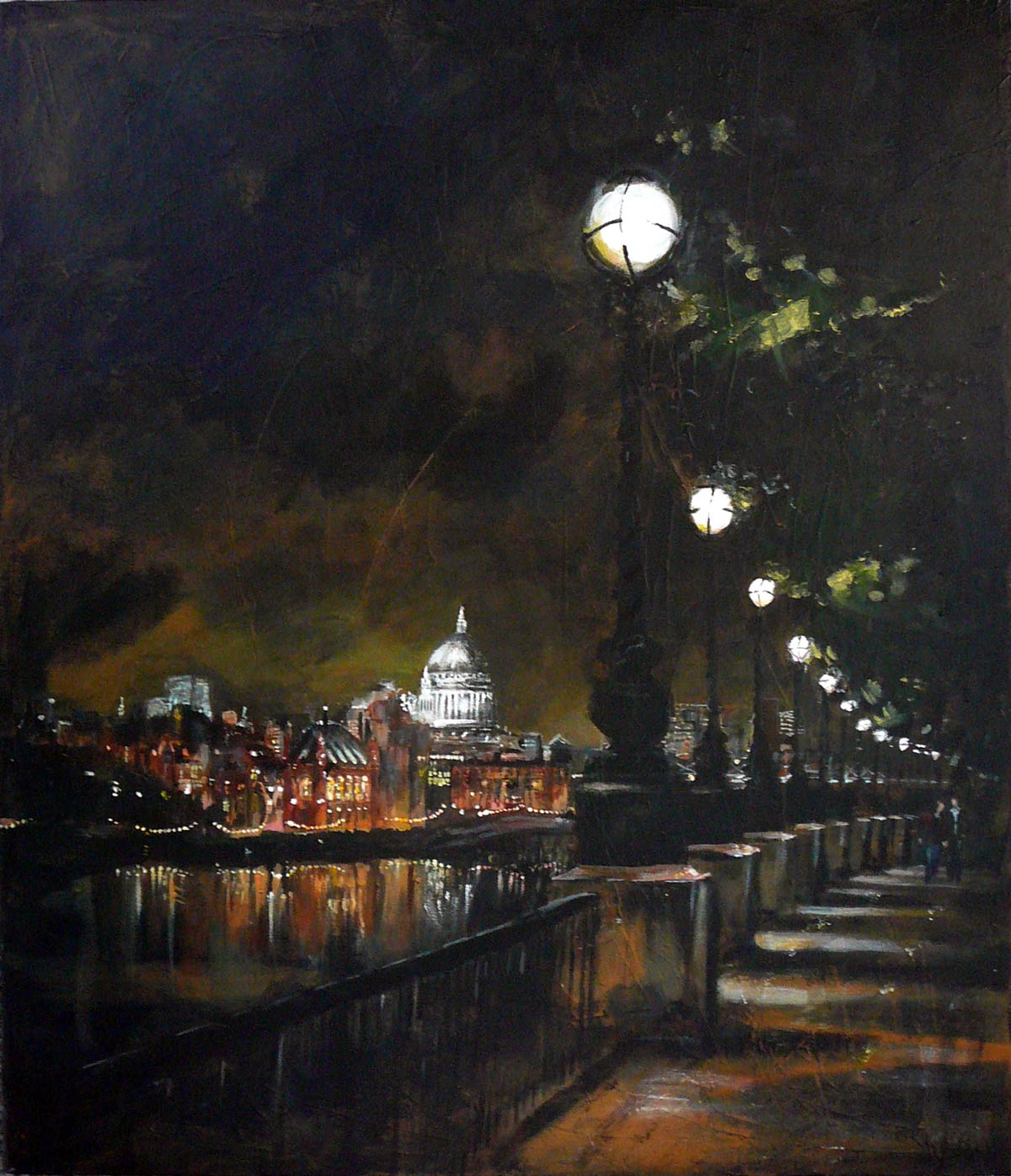 South Bank evening III 70 x 60 cm
