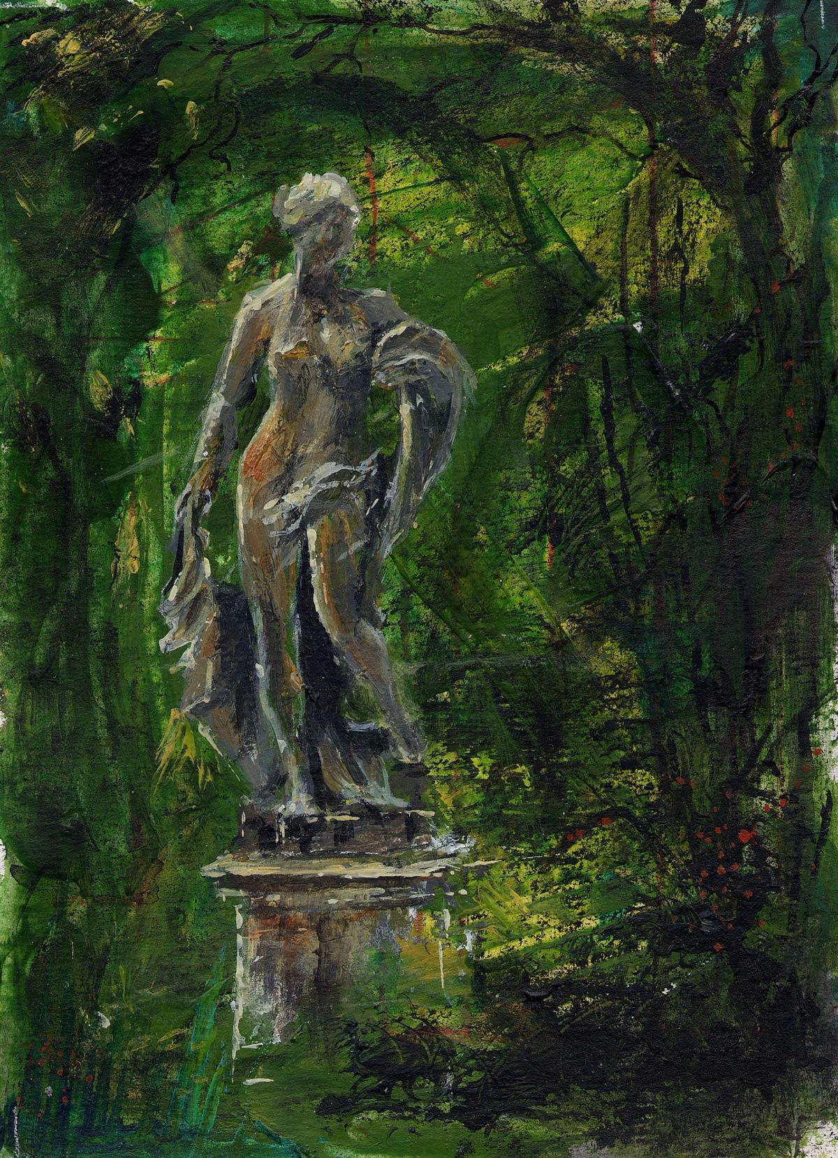 Statue in Hinton Ampner gardens I 17 x 13 cm
