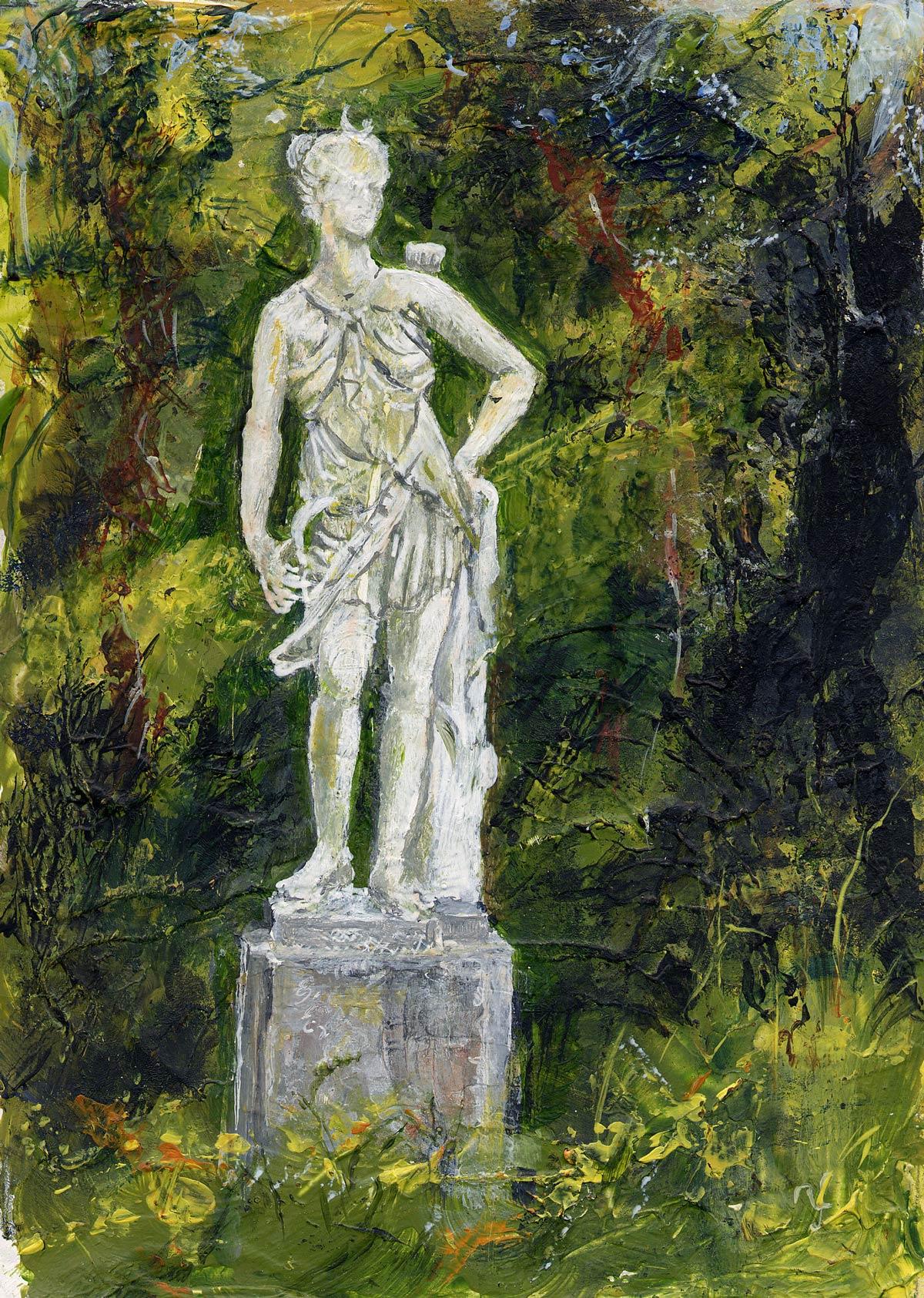 Statue in Hinton Ampner gardens II 17 x 13 cm