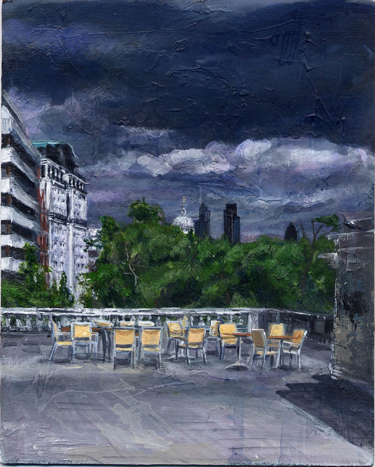 The Terrace at Somerset House 20 x 16 cm