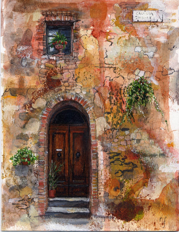 Una porta Montisi Tuscany 20 x 15 cm