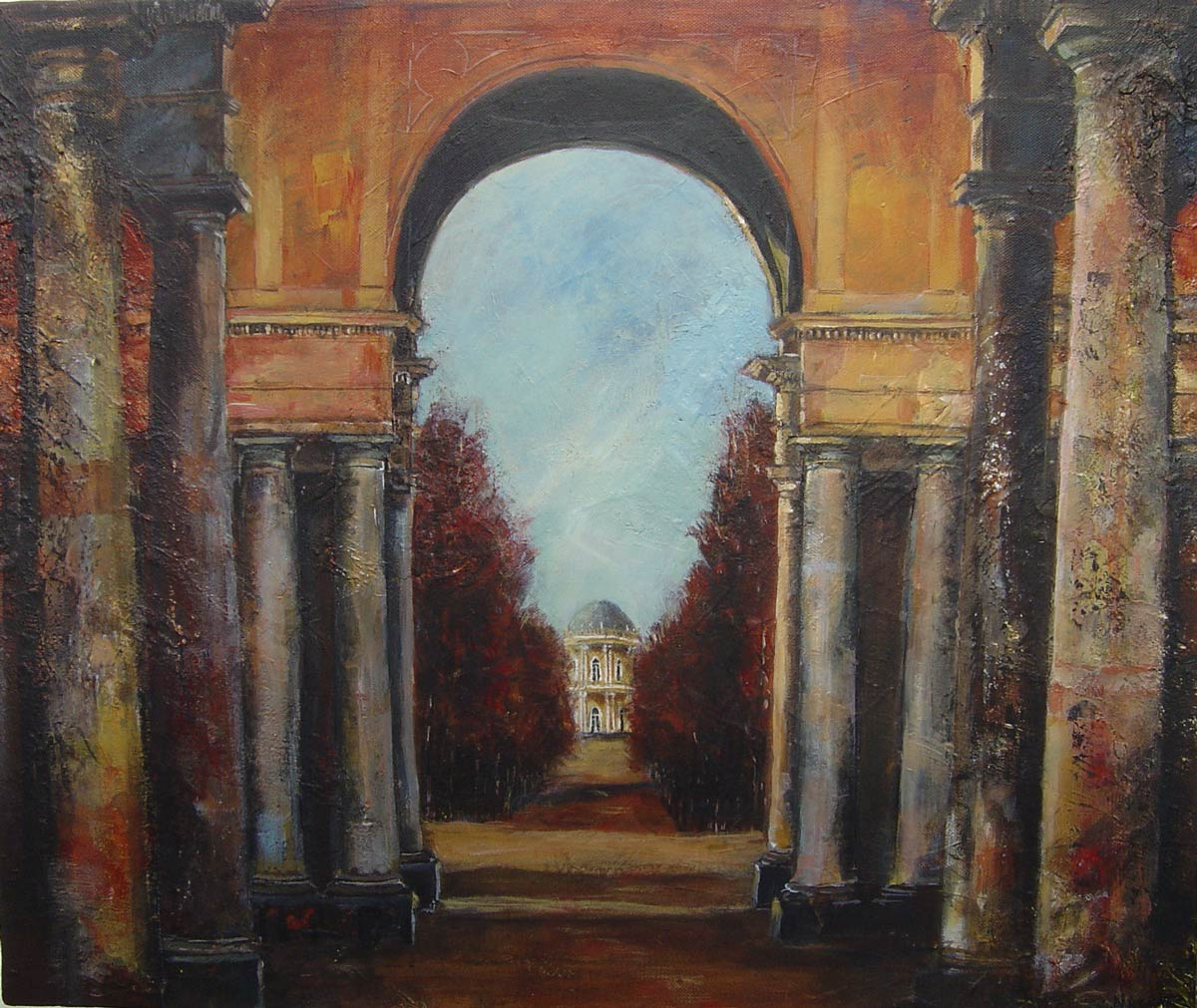 View to the Belvedere Sans Souci Palace Potsdam 50 x 60 cm